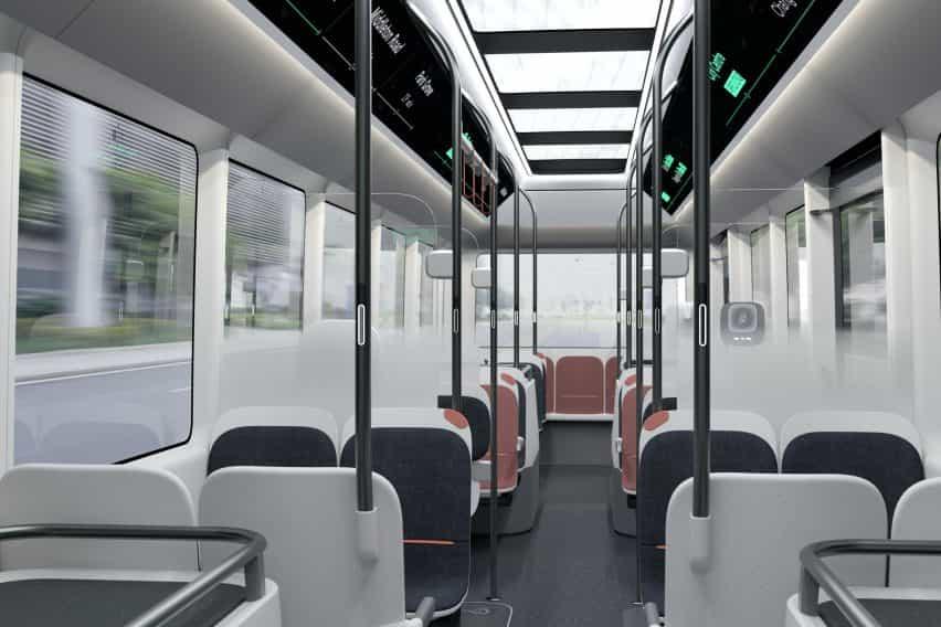Social distanciamiento bus por llegada