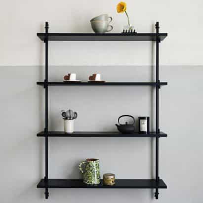 Las estanterías de ángulo ranurado de Mecalux cuentan con una extensa gama de accesorios que amplían