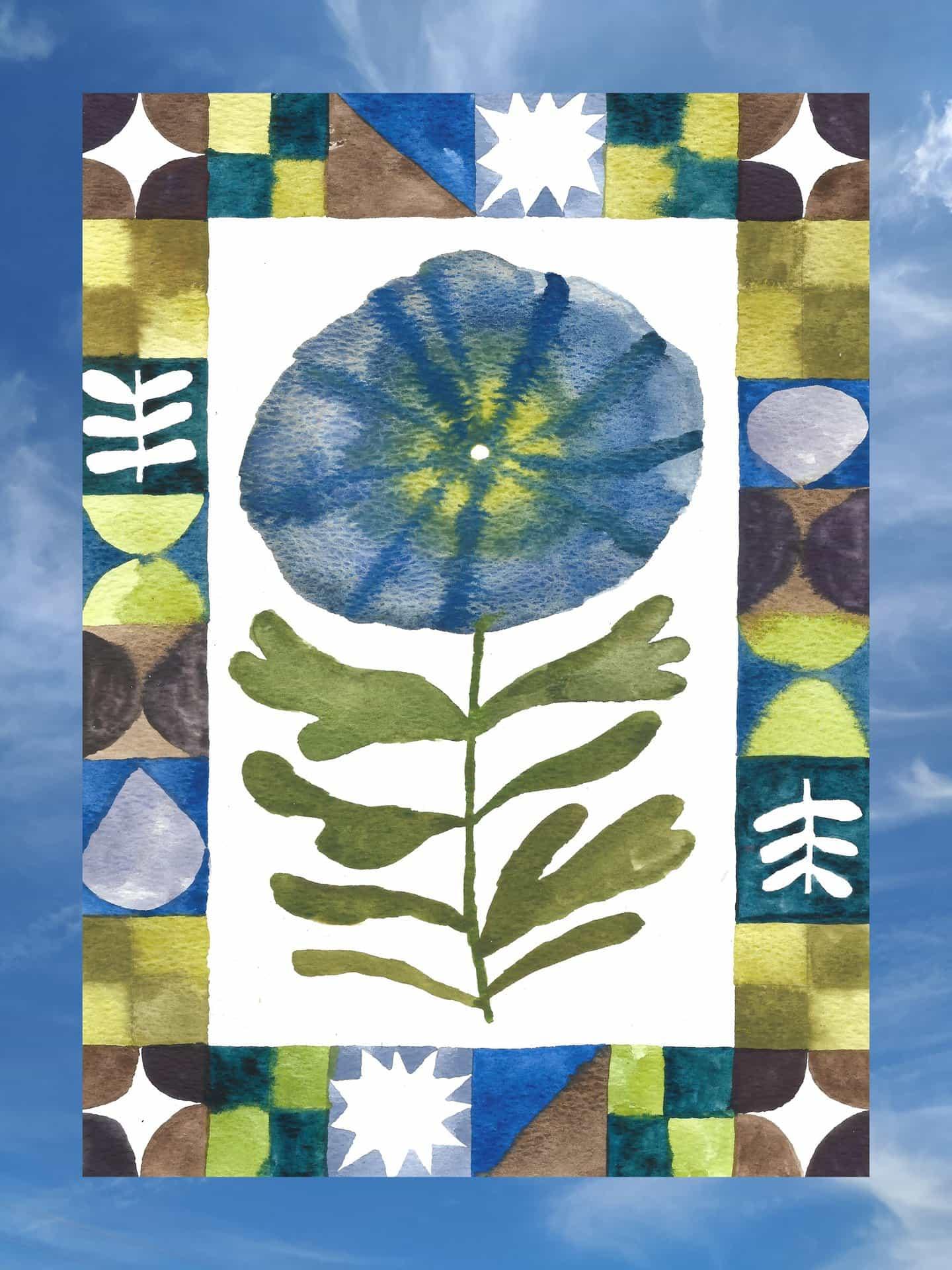 Olivia McEwan-Hill: amapola azul (Copyright © Olivia McEwan-Hill, 2020)
