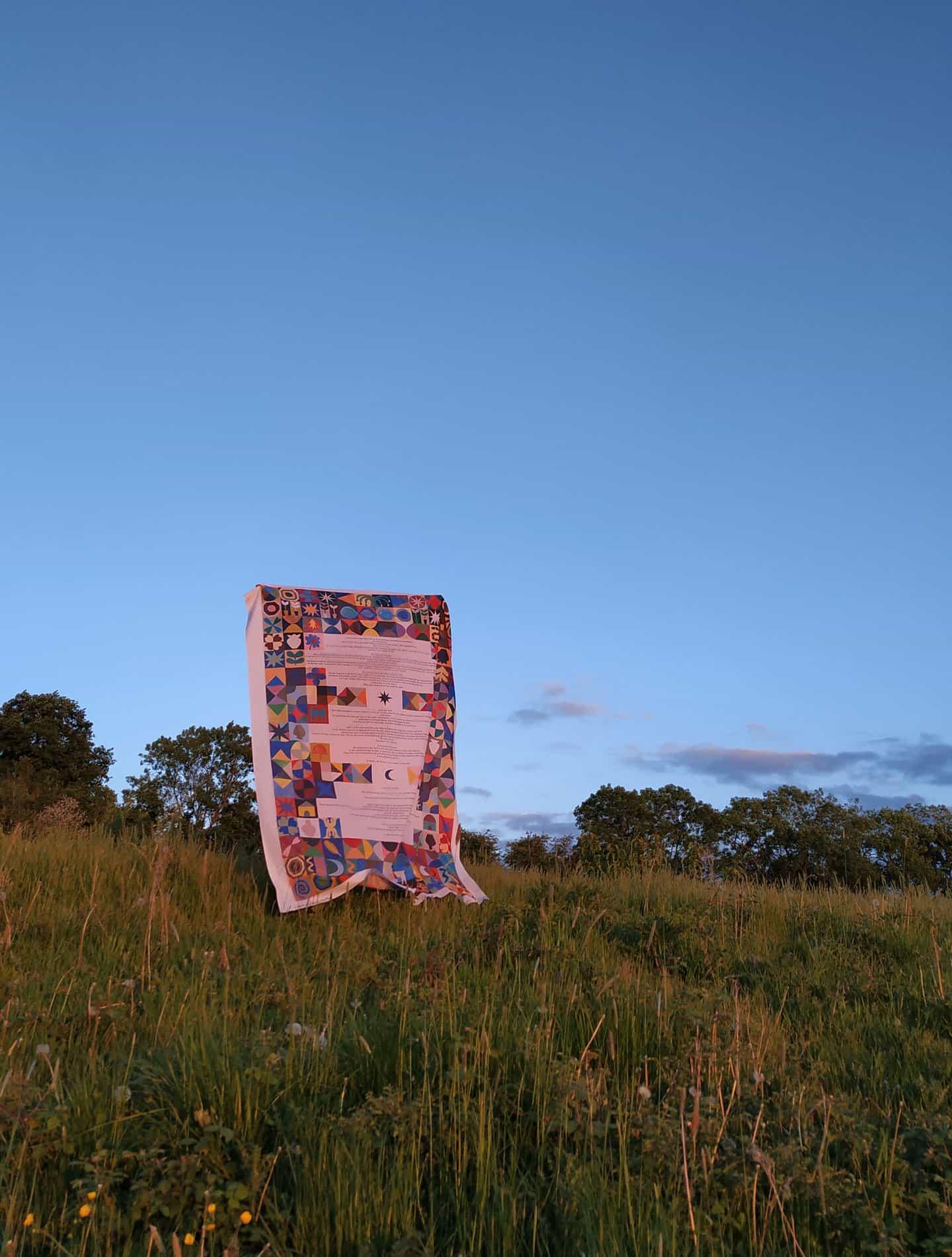 Olivia McEwan-Hill: Triquetra Quilt (Copyright © Olivia McEwan-Hill, 2020)