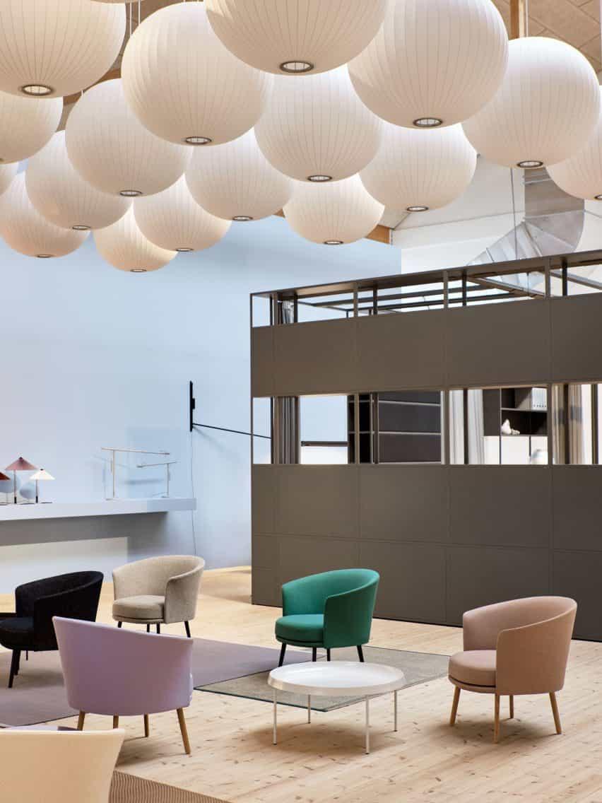 sala de exposición de heno a los 3 Días de Diseño en Copenhague