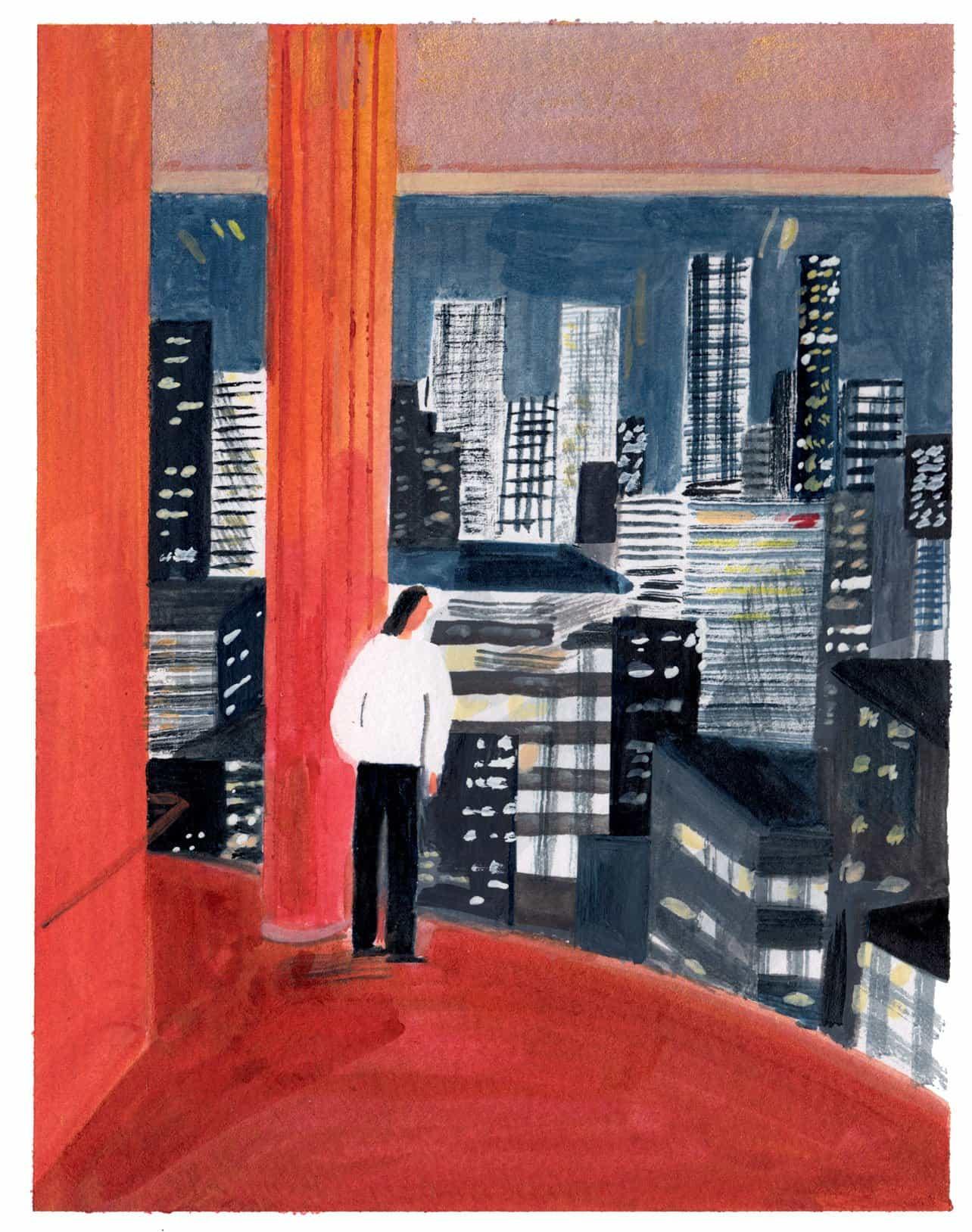 Experiencia de otoño en Nueva York a través de ilustraciones de Laura atmosféricas Junger