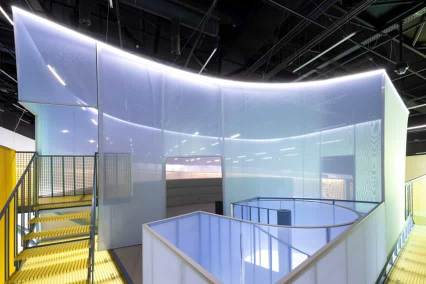 Colmena de instalación de SO-IL en el Museo de Arte, Arquitectura y Tecnología (MAAT) en Lisboa