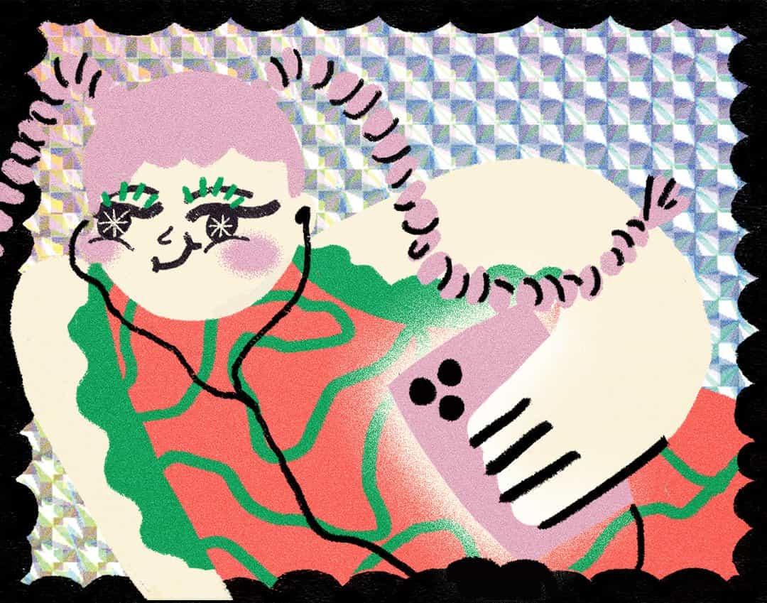 Las ilustraciones de owi Liunic viene a la vida a través de formas distorsionadas y trazos nerviosos