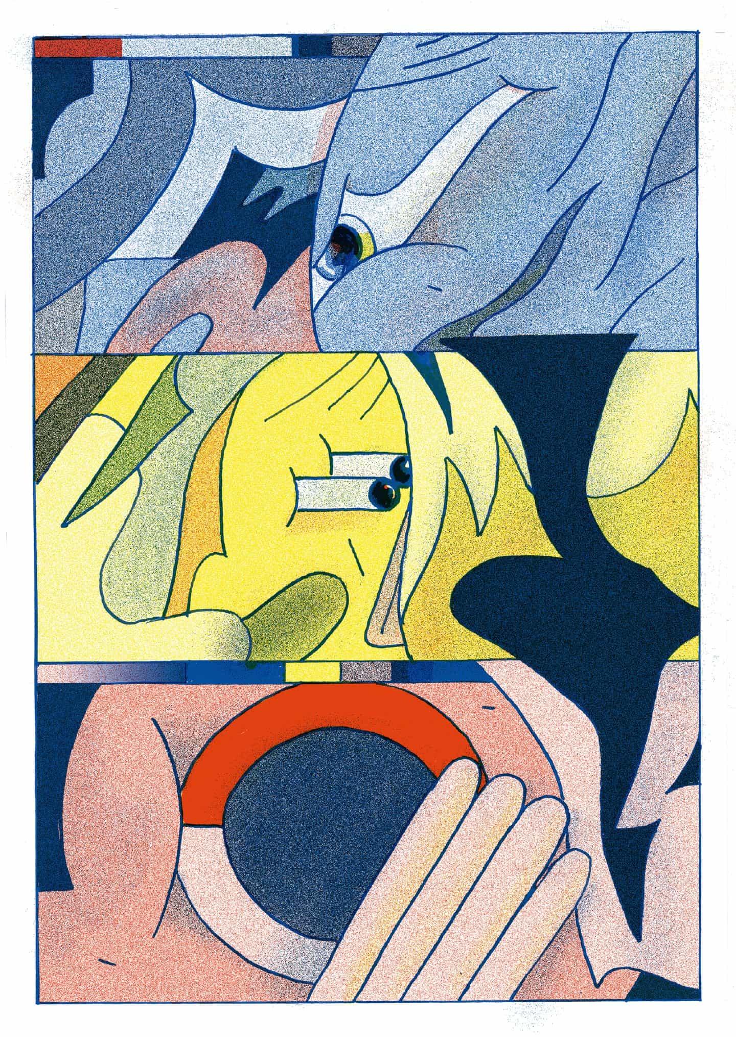 Diferentes mundos chocan en un crisol abstracto en nodon de Tim Romanowsky