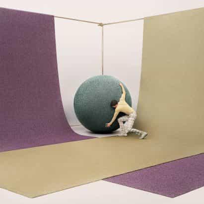 """Objeto de la alfombra últimas golosinas de recogida de revestimientos textiles """"la habitación como una etapa"""""""