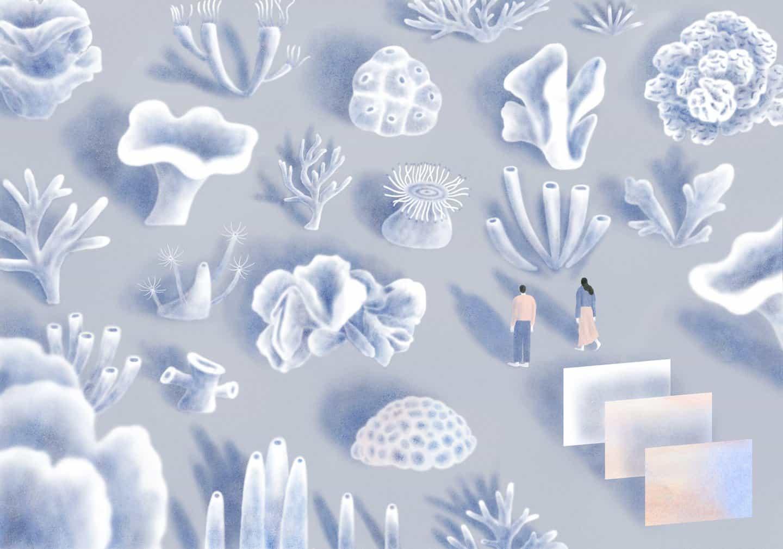 Hoi Chan envuelve una sensación de aislamiento de serenidad en sus delicadas ilustraciones
