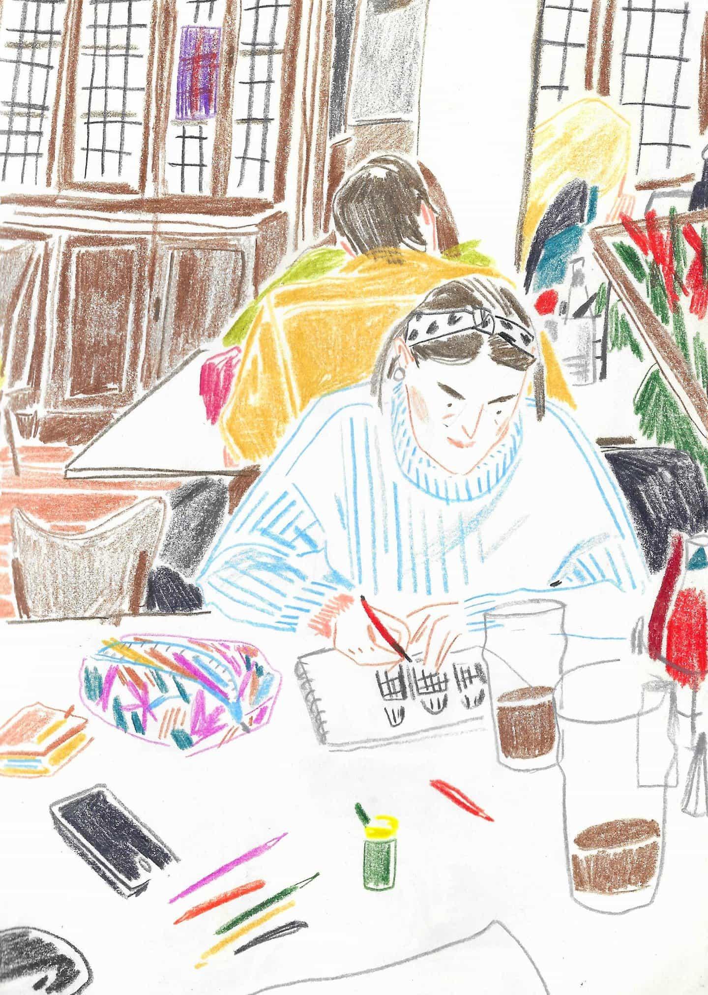 La ilustradora Amy Moss sobre evocar un sentimiento sobre la técnica formal
