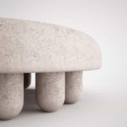 Martin Massé diseña gruesa mesa de café Orsetto 02 para el Estudio veintisiete