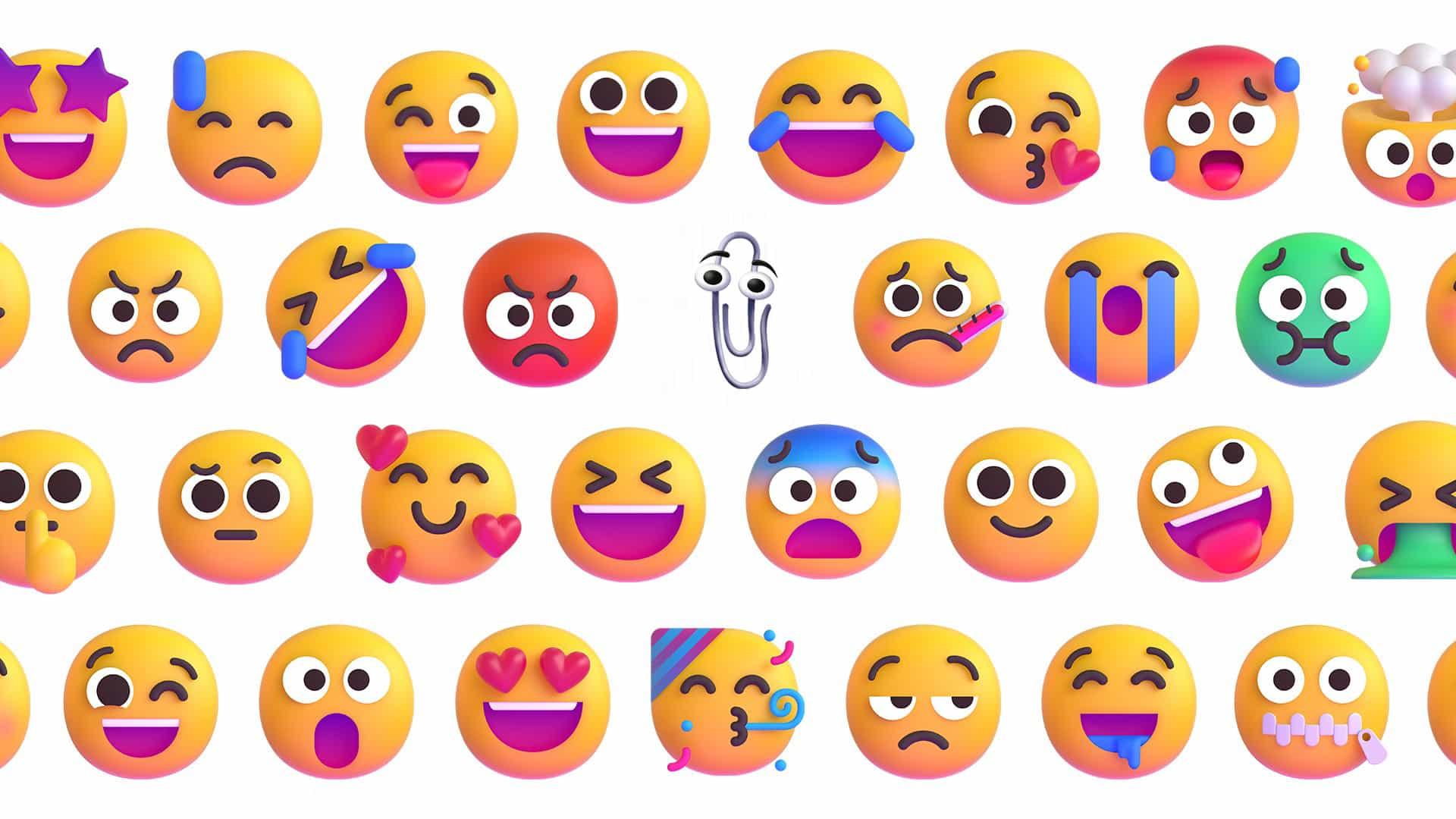 El nuevo emoji de Microsoft es una sorprendente explosión del pasado.