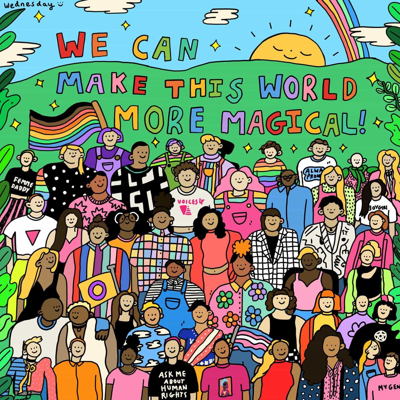 """""""Hice mi propio mundo para gente como yo"""": Miércoles Holmes en su trabajo en representación de la comunidad LGBTQ"""