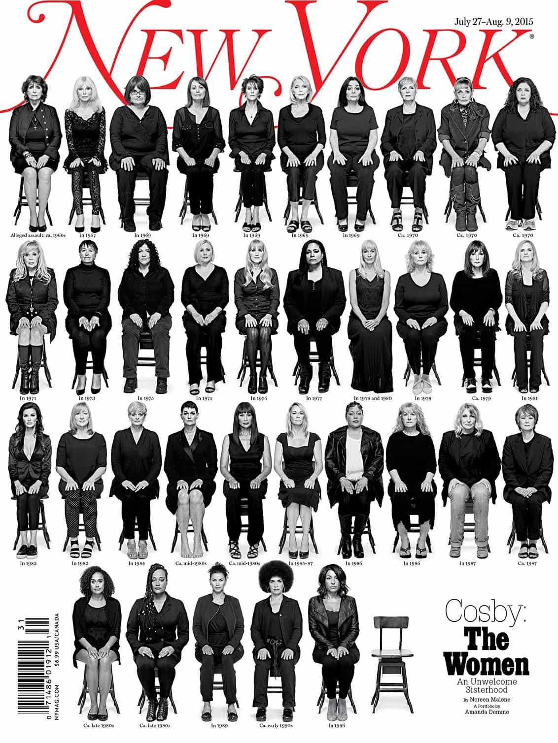 """portada de una revista de Nueva York para """"Cosby: La Mujer"""" cuestión"""