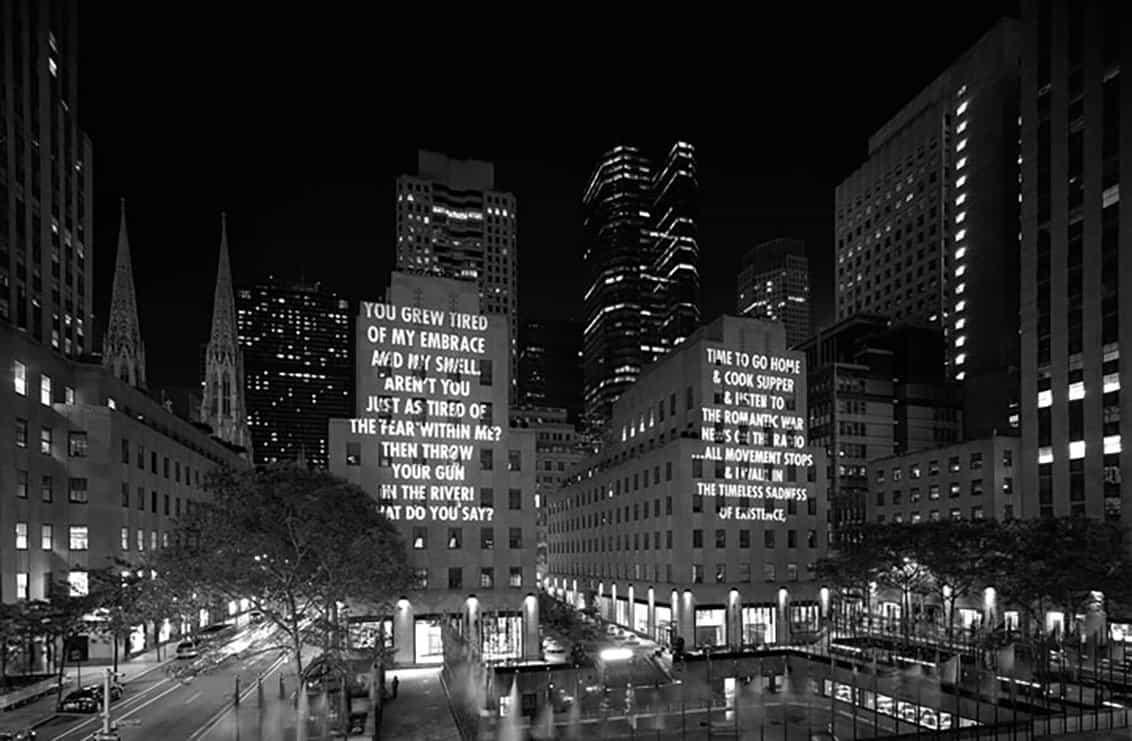 Jenny Holzer: para la ciudad, con Creative Time (Foto de Lauren Camarata)