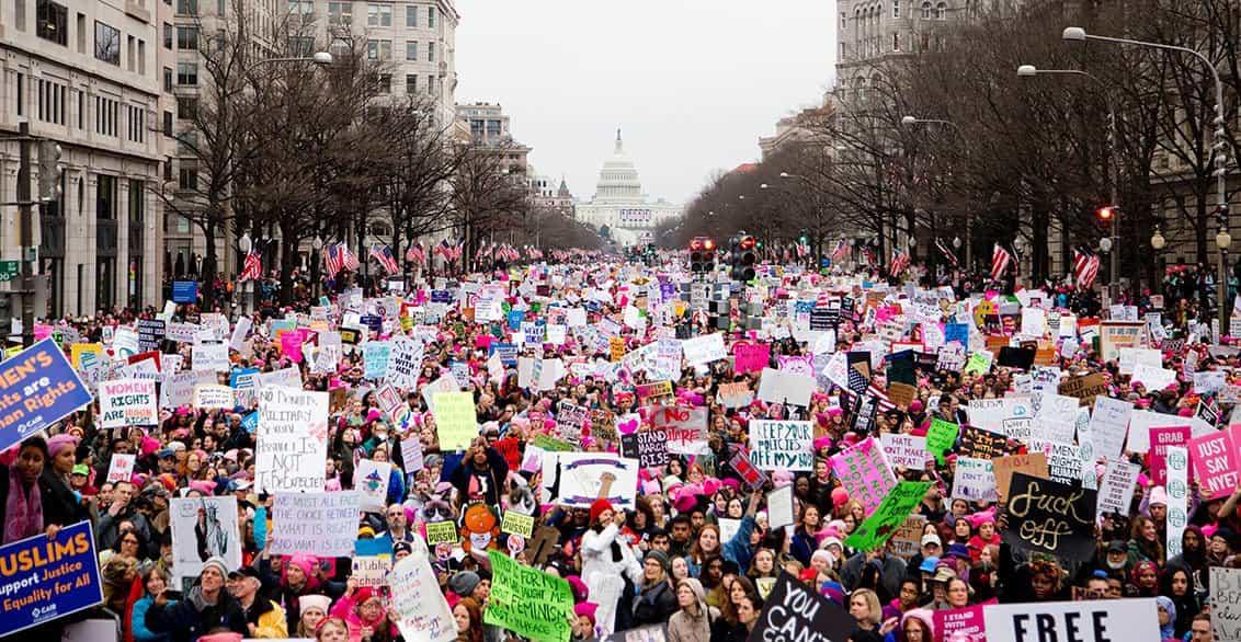Marzo de las mujeres en Washington (Foto por Vlad Tchompalov en Unsplash)
