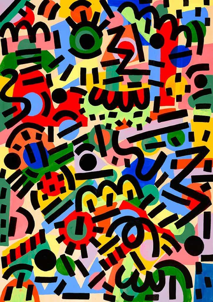 El trabajo de Caroline Dowsett se inspira en los colores que se observan en la vida diaria