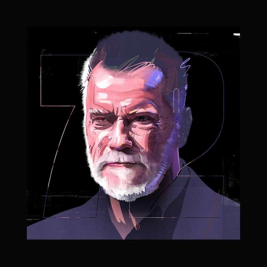 Creo que ya lo he mencionado muchas veces, pero me encanta cómo algunas personas tienen un talento increíble para dibujar retratos que se acercan a una fotografía real. Si hablamos de famosos, prácticamente los podrás reconocer fácilmente. Echemos un vistazo al trabajo de Robinson Cursor, ilustrador y tipógrafo afincado en Budapest, Hungría. Solo ayudo a notar el retrato de Arnold que se ve totalmente rudo. Estoy seguro de que Robinson se inspiró en la película Terminator en esta, ¡espero que disfruten de toda la serie!