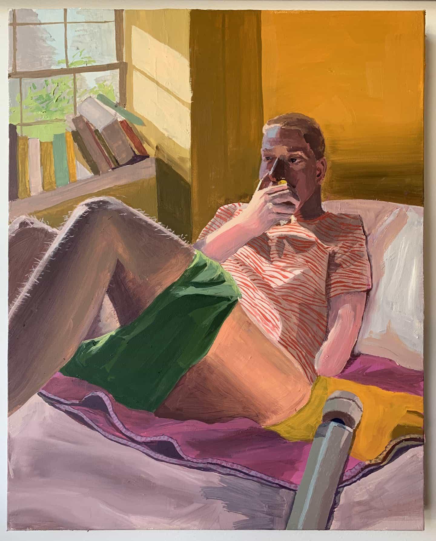 Las pinturas naturalistas y diarísticas de Linus Borgo son autobiográficas en su núcleo