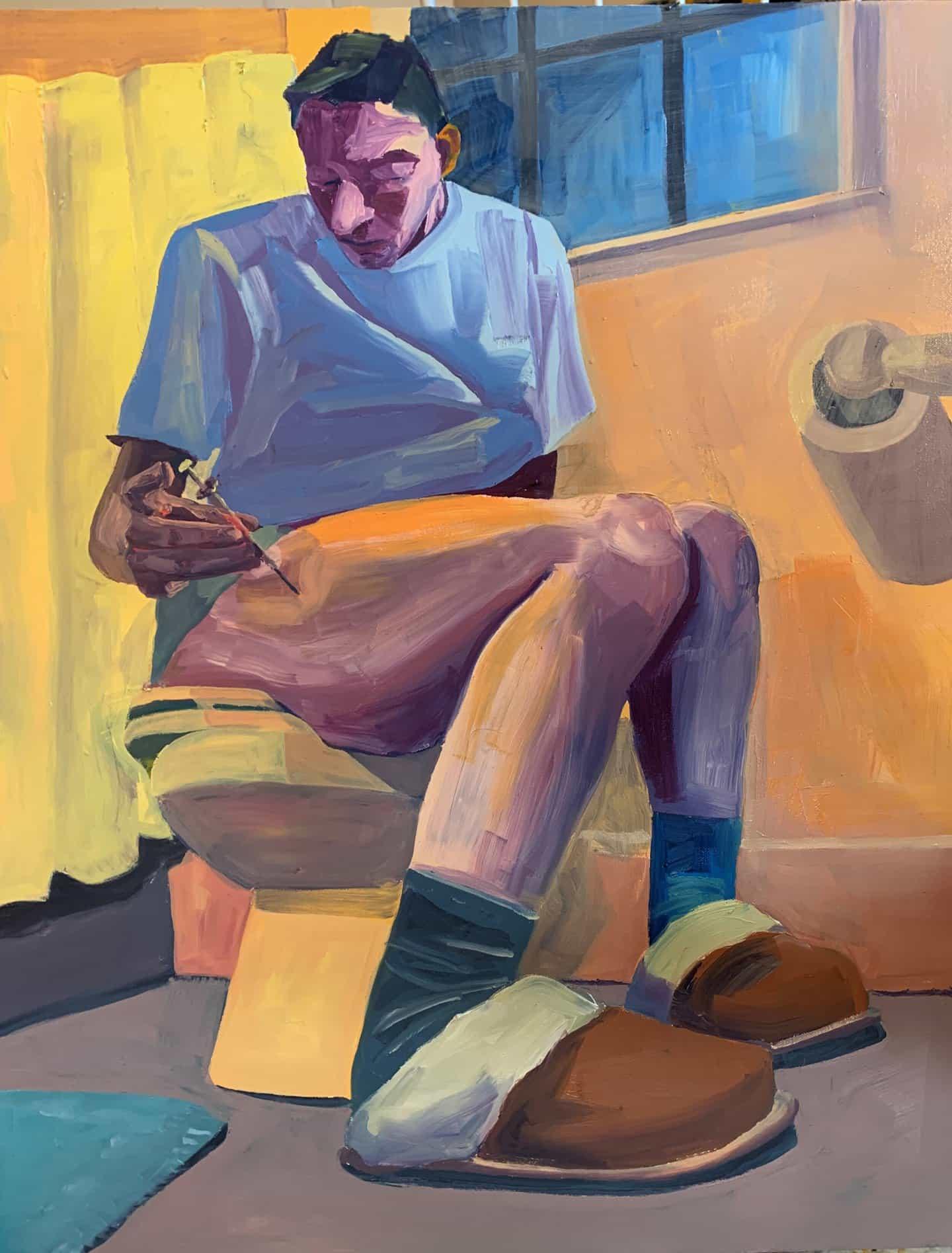 Linus Borgo: La semana pasada no se rodó (Copyright © Linus Borgo, 2021)Óleo sobre lienzo