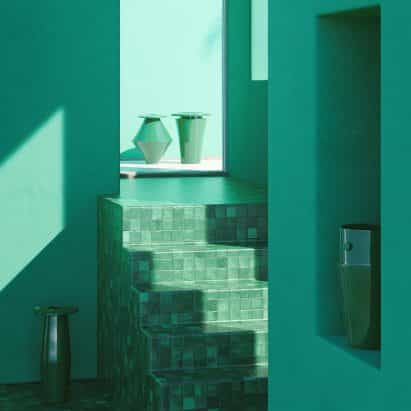 la cerámica de gran tamaño BZippy & Co. de la arquitectura brutalista mímica