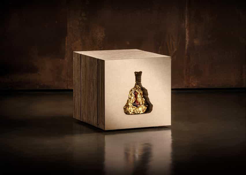 150 aniversario Hennessy XO botella de coñac por Frank Gehry
