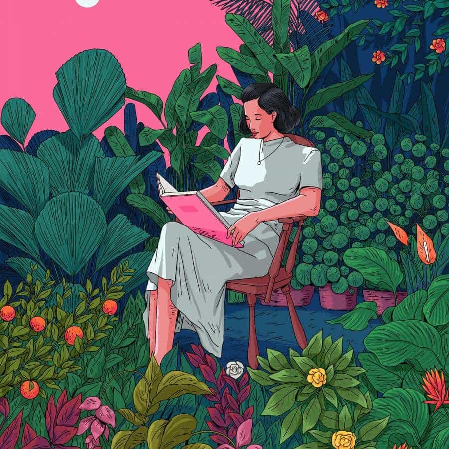 Ilustraciones de salud mental por Muhammed Sajid