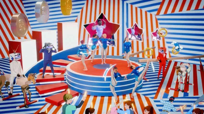 Escena de vídeo J-pop en el tráiler de la BBC de los Juegos Olímpicos de Tokio 2020 producido por Factory Fifteen y Nexus Studios