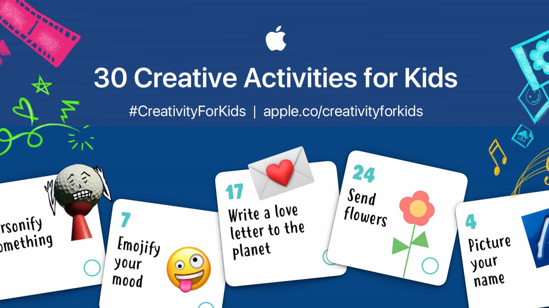 30 actividades gratuitas de Apple para mantener a los niños (y usted) creativa durante todo el mes