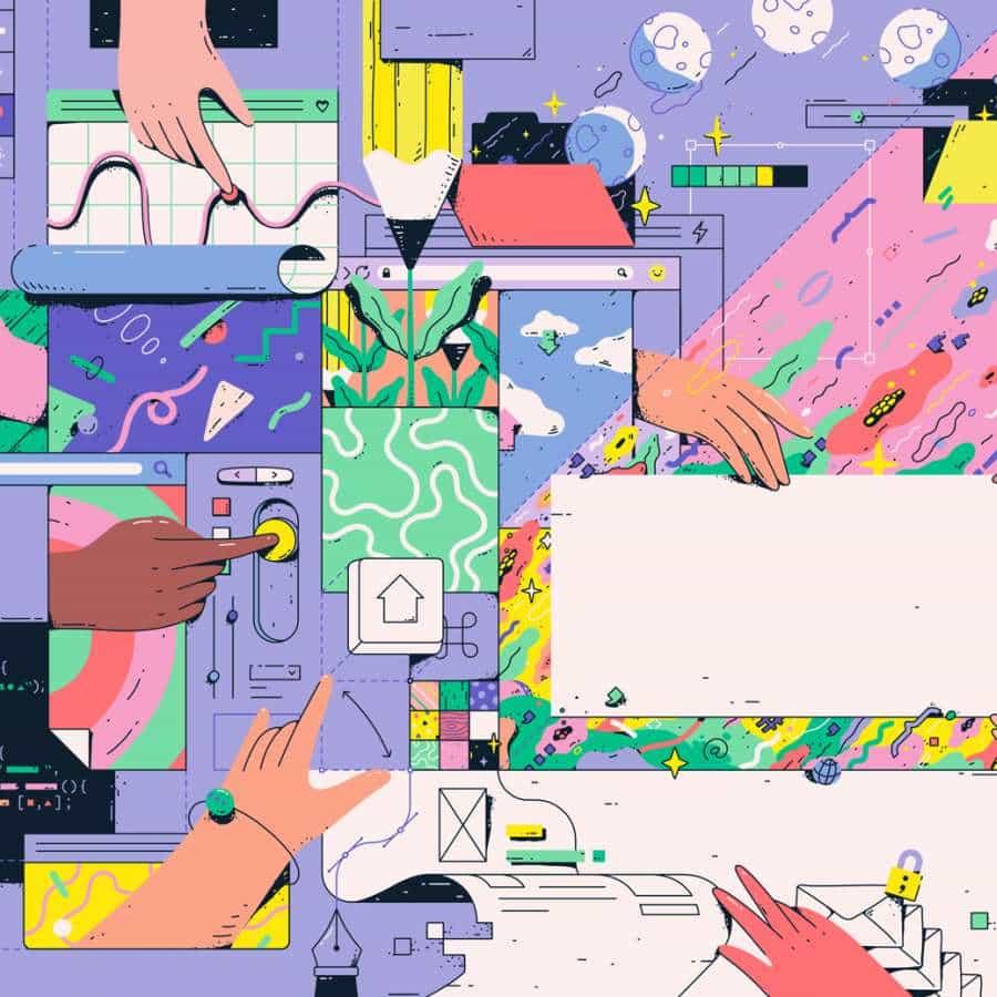 Encargo fresca Ilustraciones de Lena Vargas