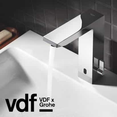 Encabezado patrocinador Grohe se hace cargo Virtual Design Festival