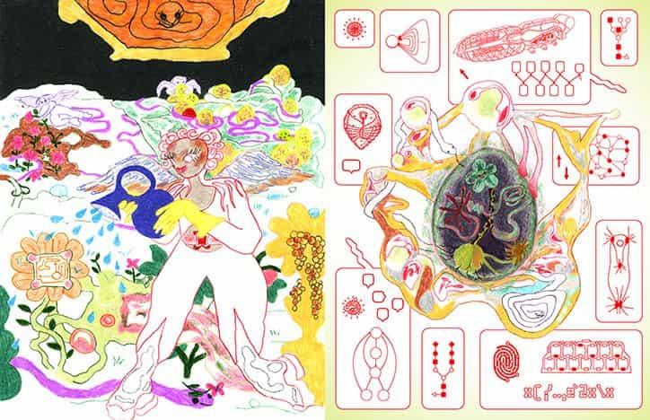 mundo ilustrado de Juli Majer es surrealista, dulce pegajoso y lleno de arañas