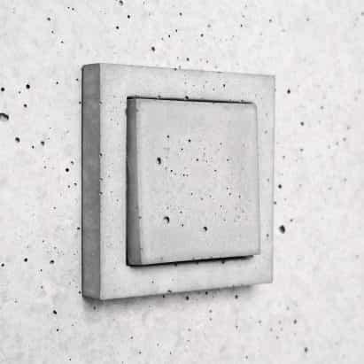 Sekhina diseños de interruptores de luz y enchufes mínimos de hormigón