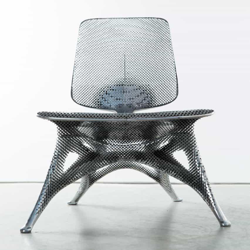 Silla de aluminio Gradiente de Joris Laarman