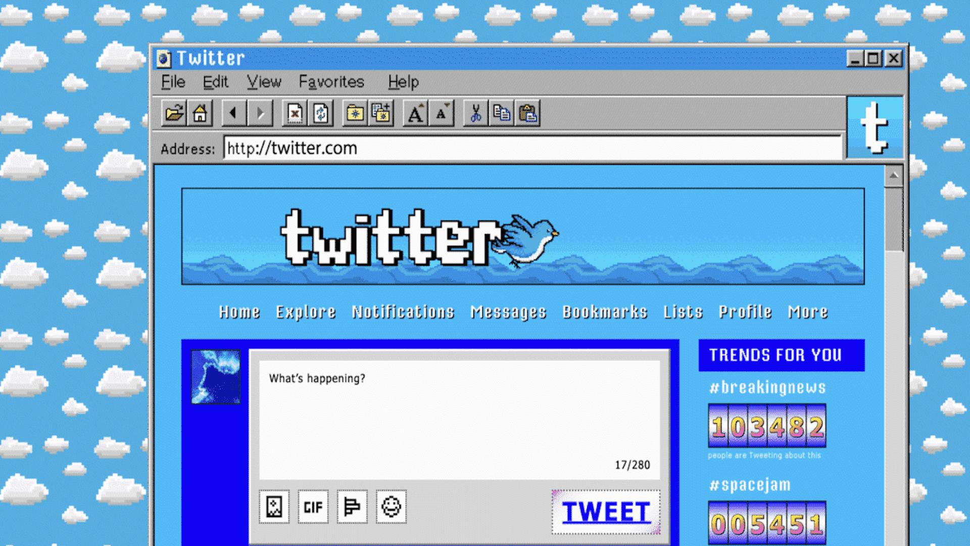 Así es como se habrían visto tus sitios web favoritos en los 90
