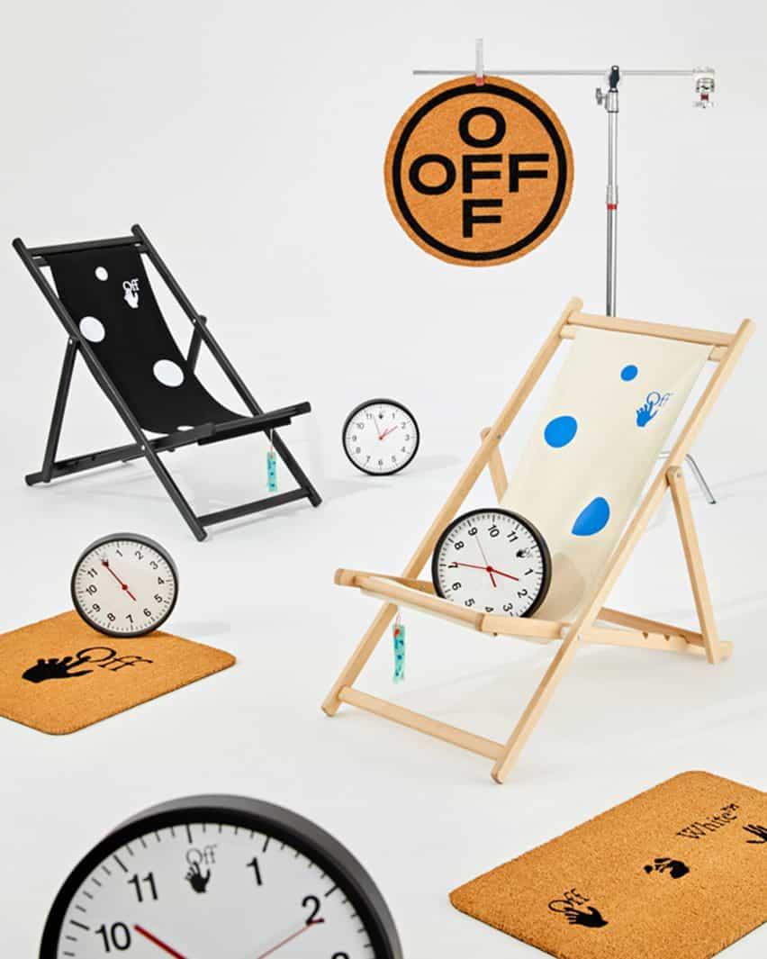 Felpudos y relojes de colección para el hogar por OFFWHITE