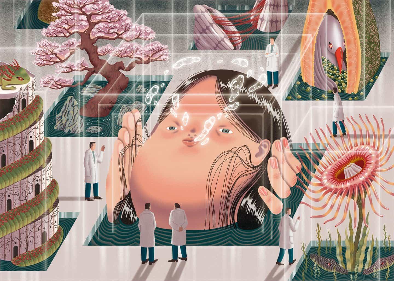 Entra en el universo labrynthine del ilustrador surrealista Dani Choi