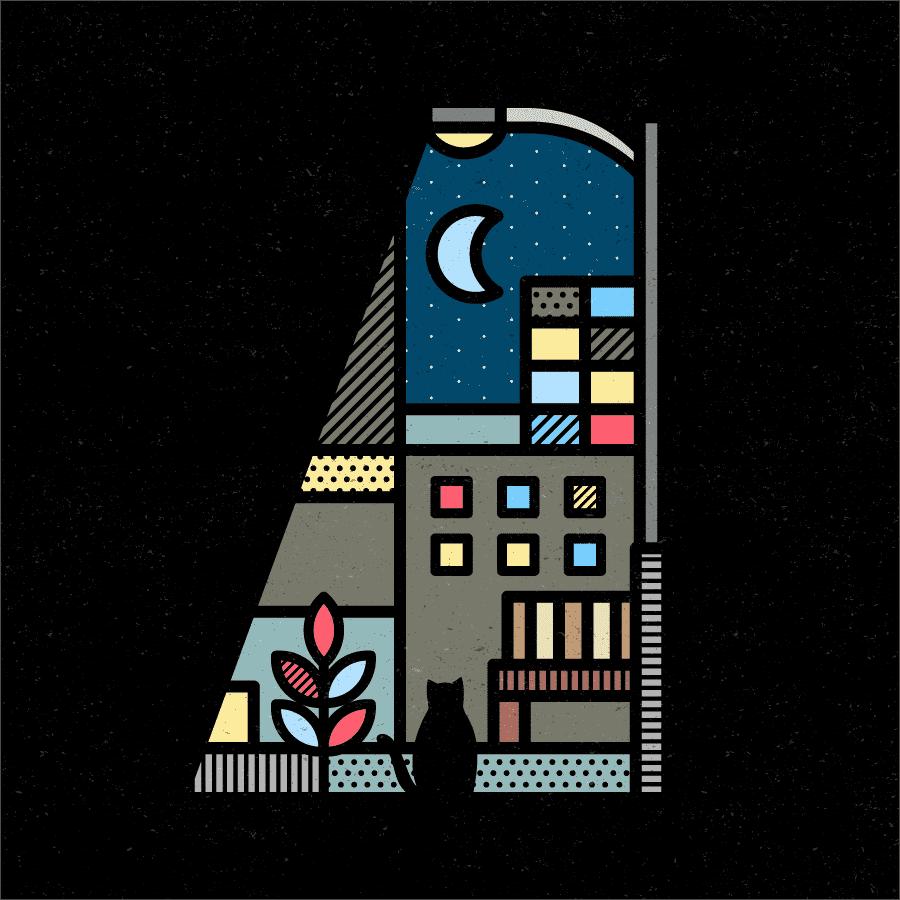 Lumen es una serie de ilustraciones que Mike Karolos creó en 2018 basadas en la forma y las formas que la luz puede crear en un lugar oscuro revelando lo que se esconde en las sombras.