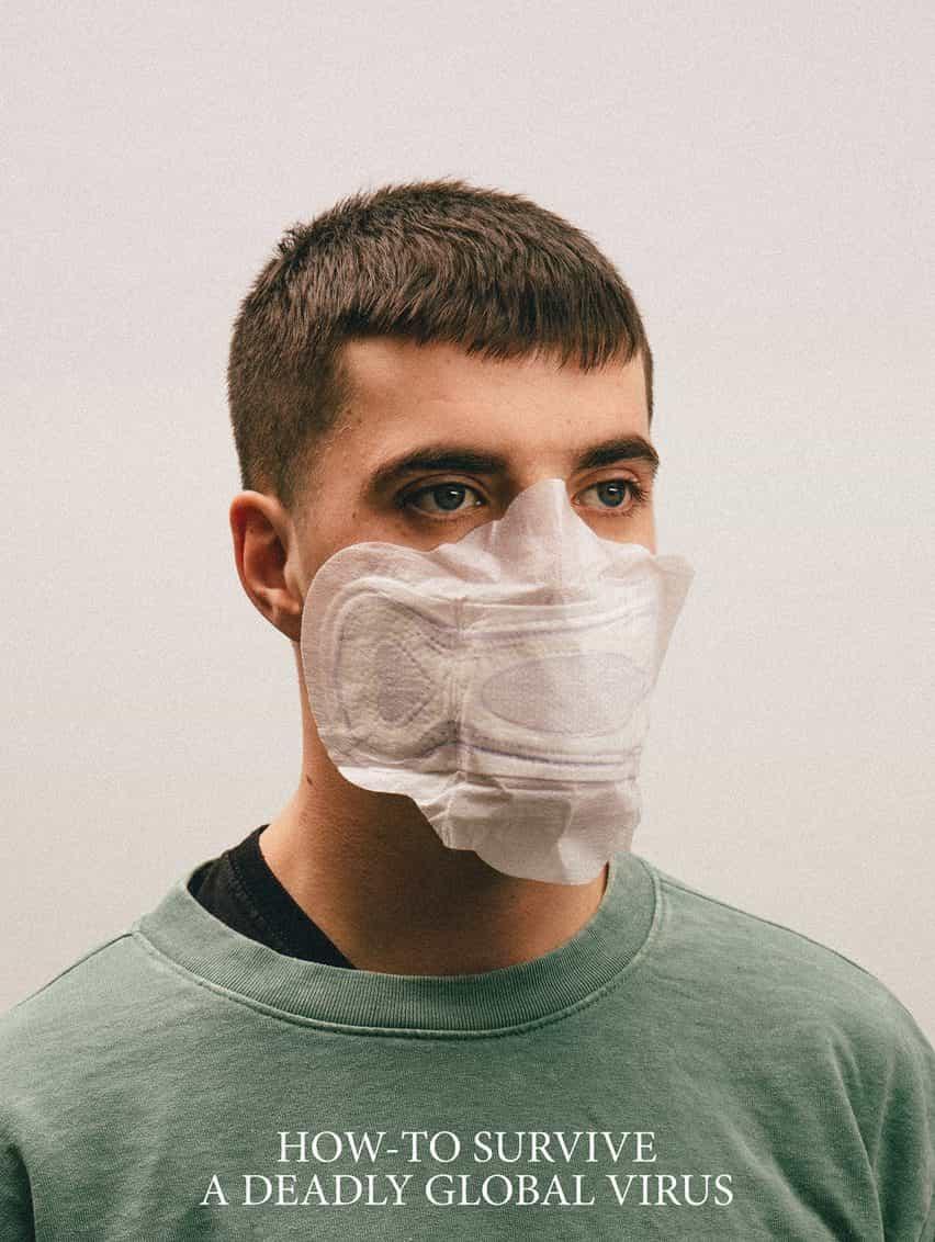 máscaras Alternativa Coronavirus por Max Siedentopf con toalla sanitaria