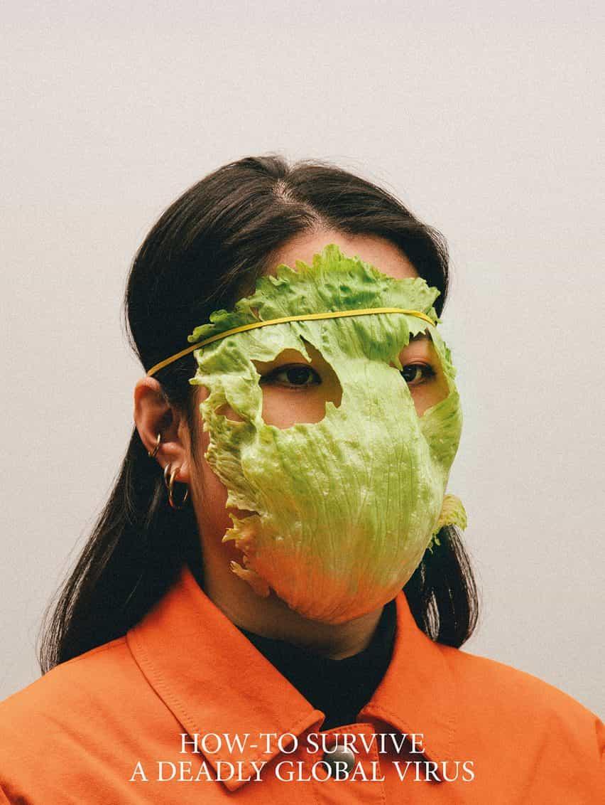 máscaras Alternativa Coronavirus por Max Siedentopf con hoja de lechuga