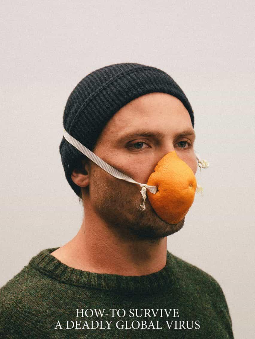 máscaras Alternativa Coronavirus por Max Siedentopf con cáscara de naranja
