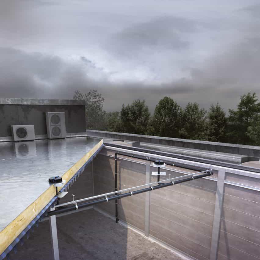 Las entradas de la cubierta Pluvia por Geberit
