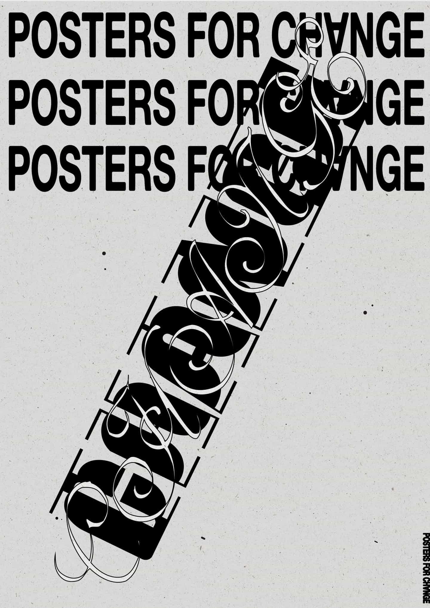 Una selección de los carteles que Caterina produjo completando su breve