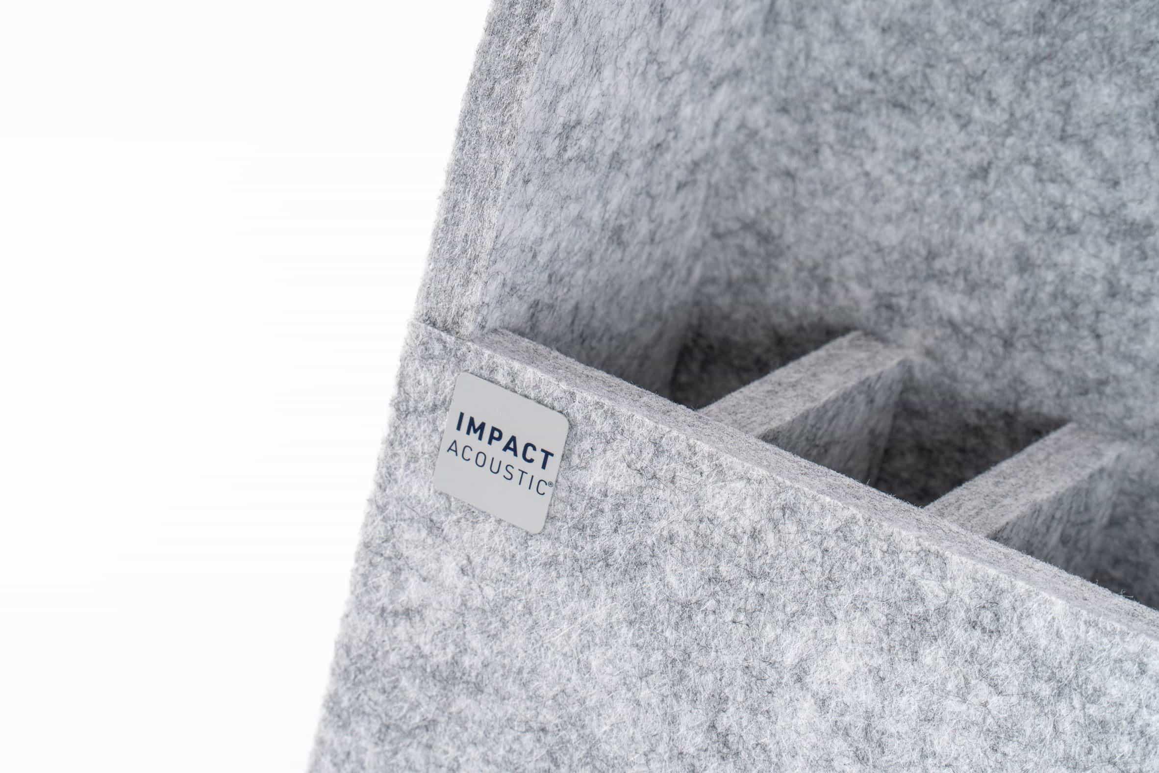 Organizador de escritorio acústico TwoWay de Impact Acoustic en fieltro gris
