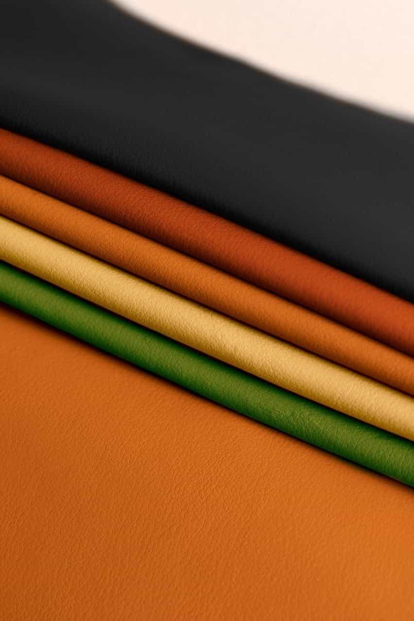 Muestras de cuero Leap de diferentes colores