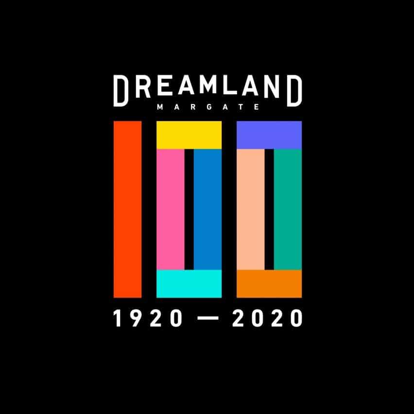 Dreamland logotipo del aniversario número 100 de HemingwayDesign