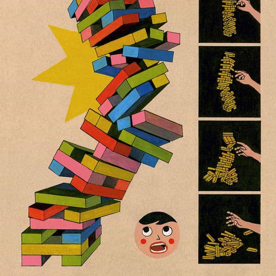 Ilustración de manos, paneles y secuencias de Toma Vagner