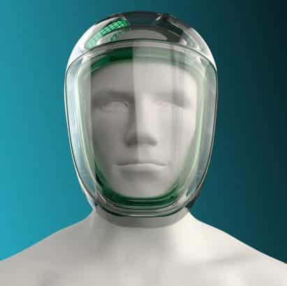 Massimo Iosa Ghini diseña mascarilla conceptual mientras que Paul Priestman crea soporte del teléfono huevera