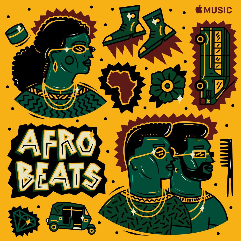 Apple Music Afrobeats golpea lista de reproducción Cover Art