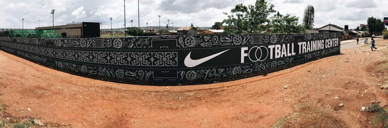 Nike Football Training Centre Mural, Soweto