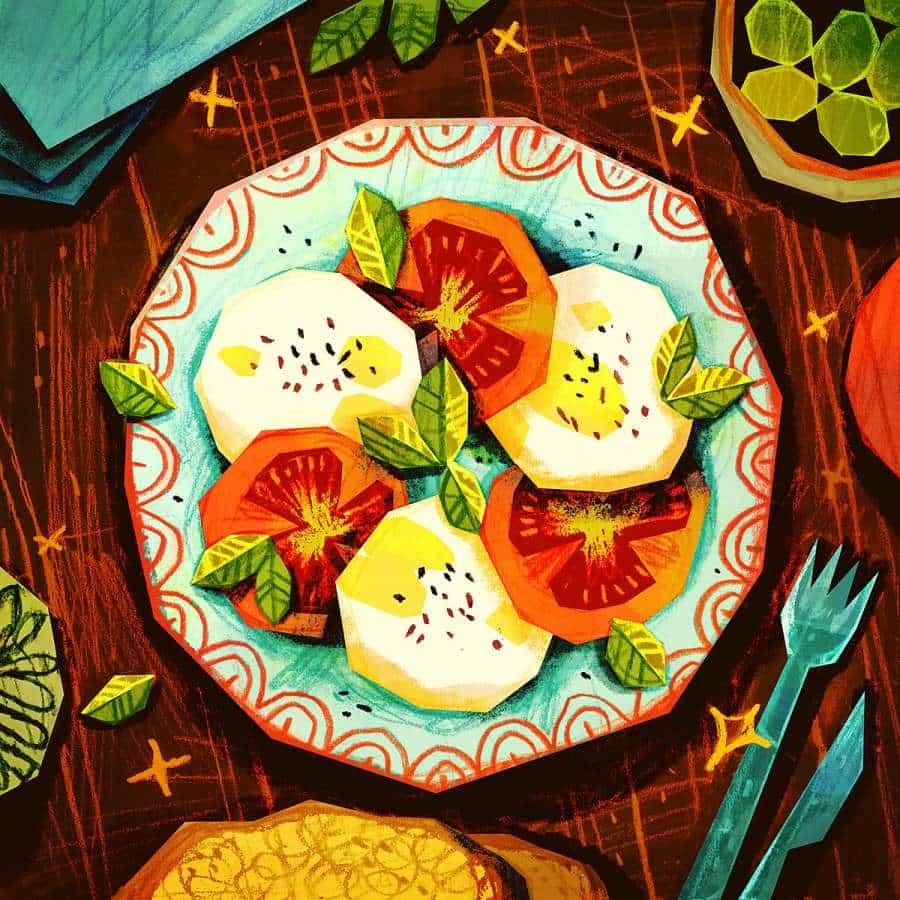 Ilustraciones de alimentos por Carlotta Notaro