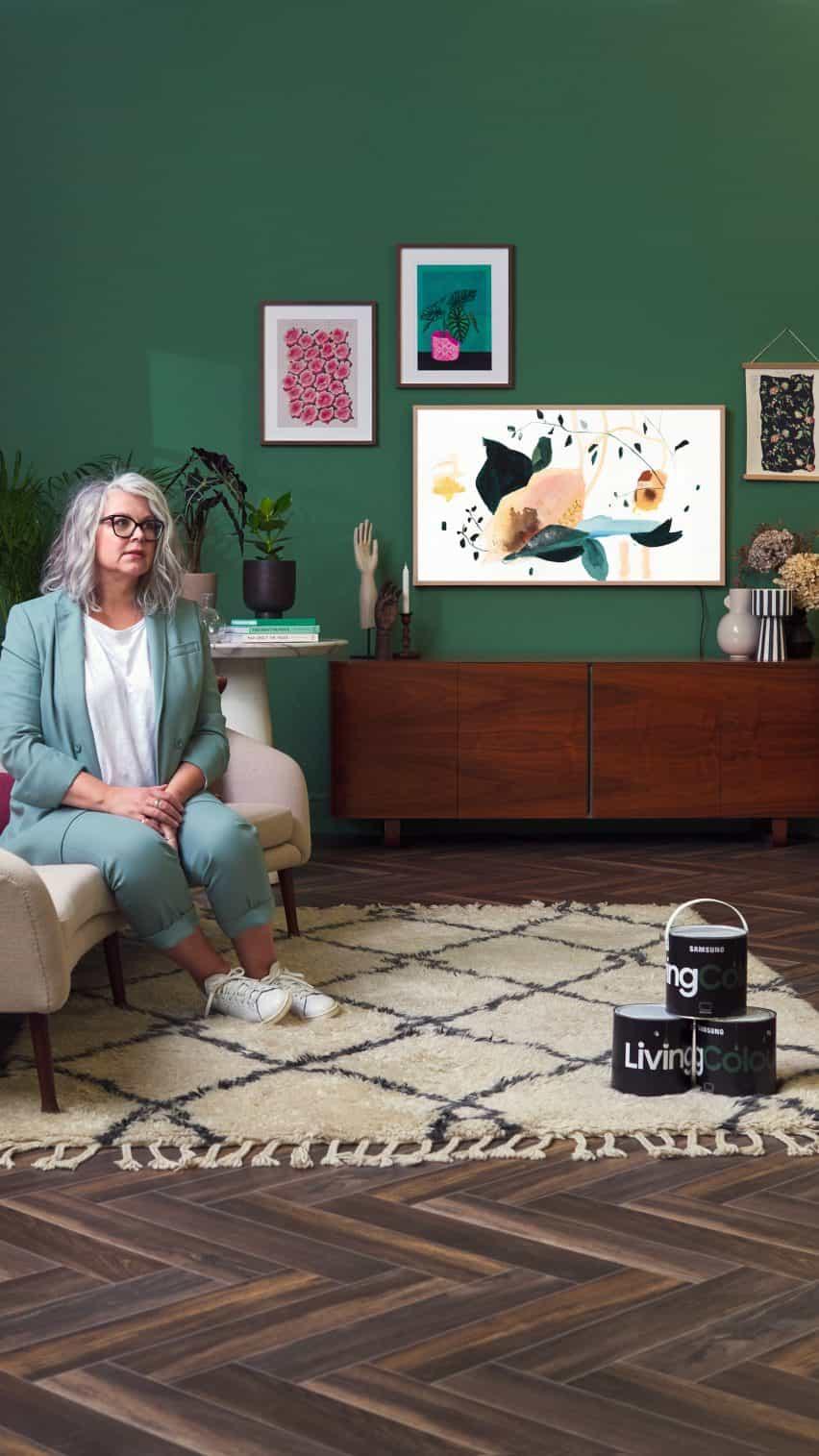 Kate Watson-Smyth sala de estilos utilizando pinturas Living Colour de Samsung